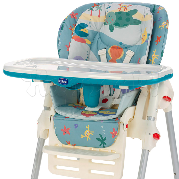 Стул высокий CHICCO POLLY SEA DREAMS c 2-мя колесами