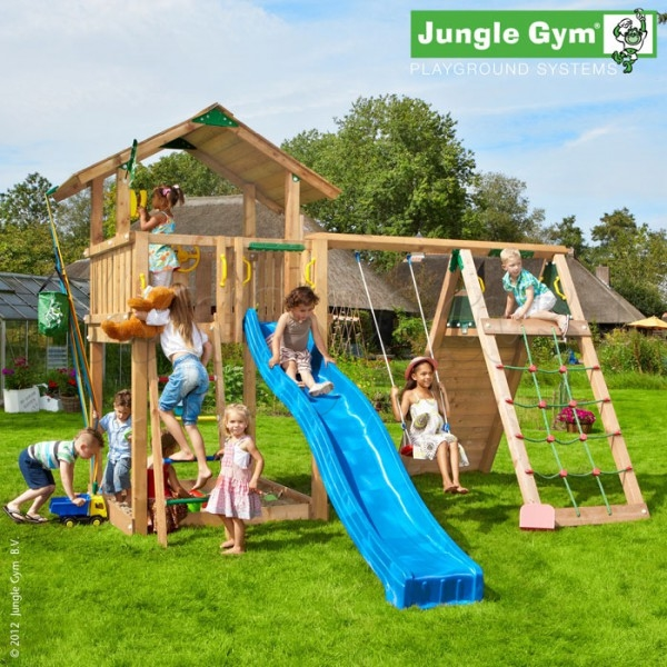 Игровой комплекс JUNGLE GYM CHALET +CLIMB MODULE