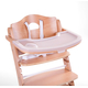 Стул для кормления CHILDHOME LAMBDA 2 NATURAL - PASTEL OLD PINK