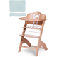 Стул для кормления CHILDHOME LAMBDA 2 NATURAL - PASTEL MINT
