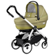 Коляска PEG-PEREGO BOOK PLUS 51 COMPLETO MODULAR GREEN TEA  3 В 1 на шасси WHITE