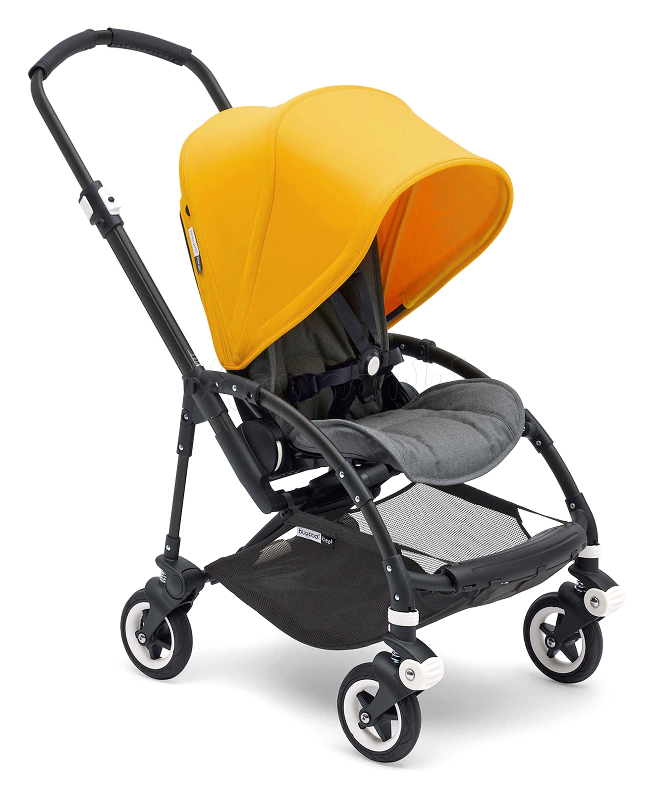 Коляска прогулочная BUGABOO BEE 5 COMPLETE BLACK - GREY MELANGE - SUNRISE YELLOW