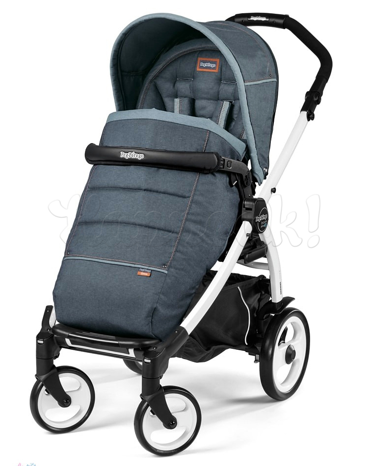 Коляска прогулочная PEG-PEREGO BOOK PLUS 51 WHITE POP-UP BLUE DENIM