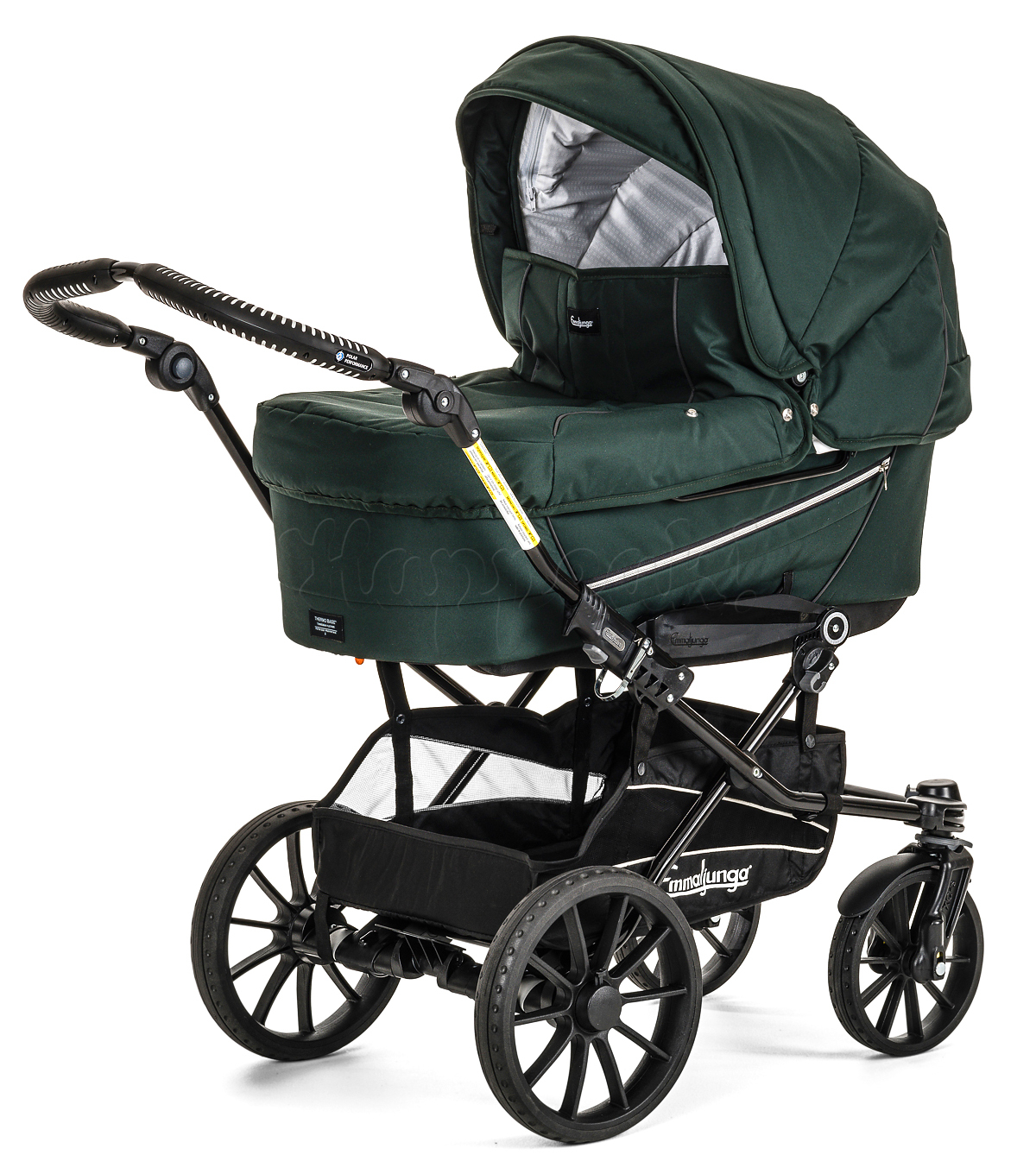Коляска EMMALJUNGA EDGE DUO COMBI 12605 OXFORD GREEN 2016  2 В 1 на шасси CLASSIC CHROME