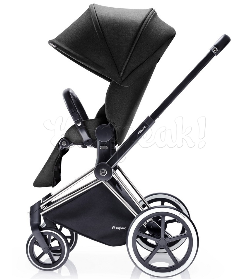 Коляска CYBEX PRIAM LUX BLACK BEAUTY 3 В 1 на раме TREKKING + CLOUD Q PLUS