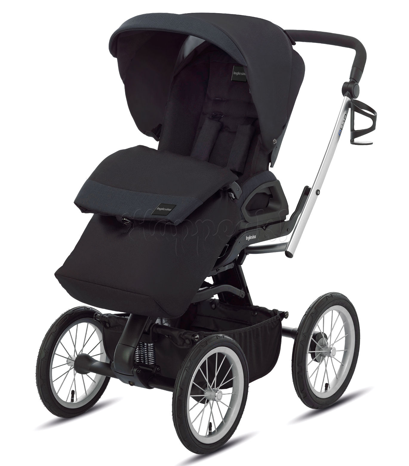 Коляска INGLESINA QUAD TOTAL BLACK 3 В 1 на шасси QUAD XT