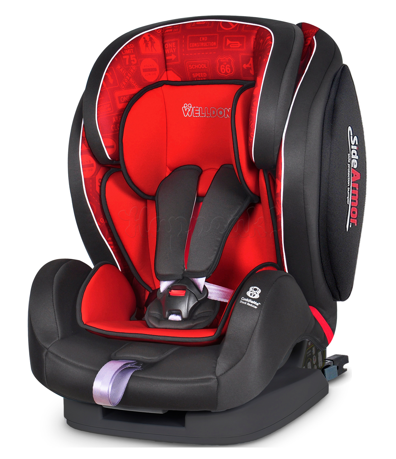 Автокресло WELLDON ENCORE FIT SIDE ARMOR&CUDDLE ME ISOFIX TRAFFIC RED