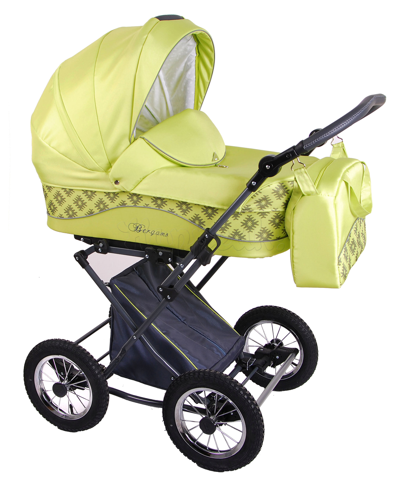 Коляска LONEX BERGAMO LIGHT GREEN 2 В 1