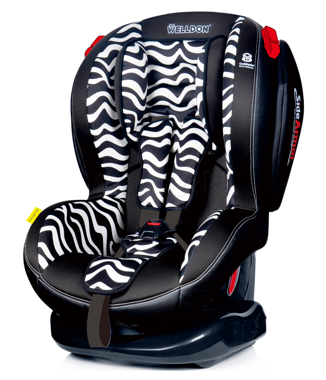 Автокресло WELLDON ROYAL BABY SIDE ARMOR&CUDDLE ME ZEBRA