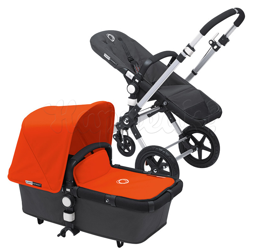 Коляска BUGABOO CAMELEON 3 DARK GREY ORANGE 2 В 1 на шасси SILVER