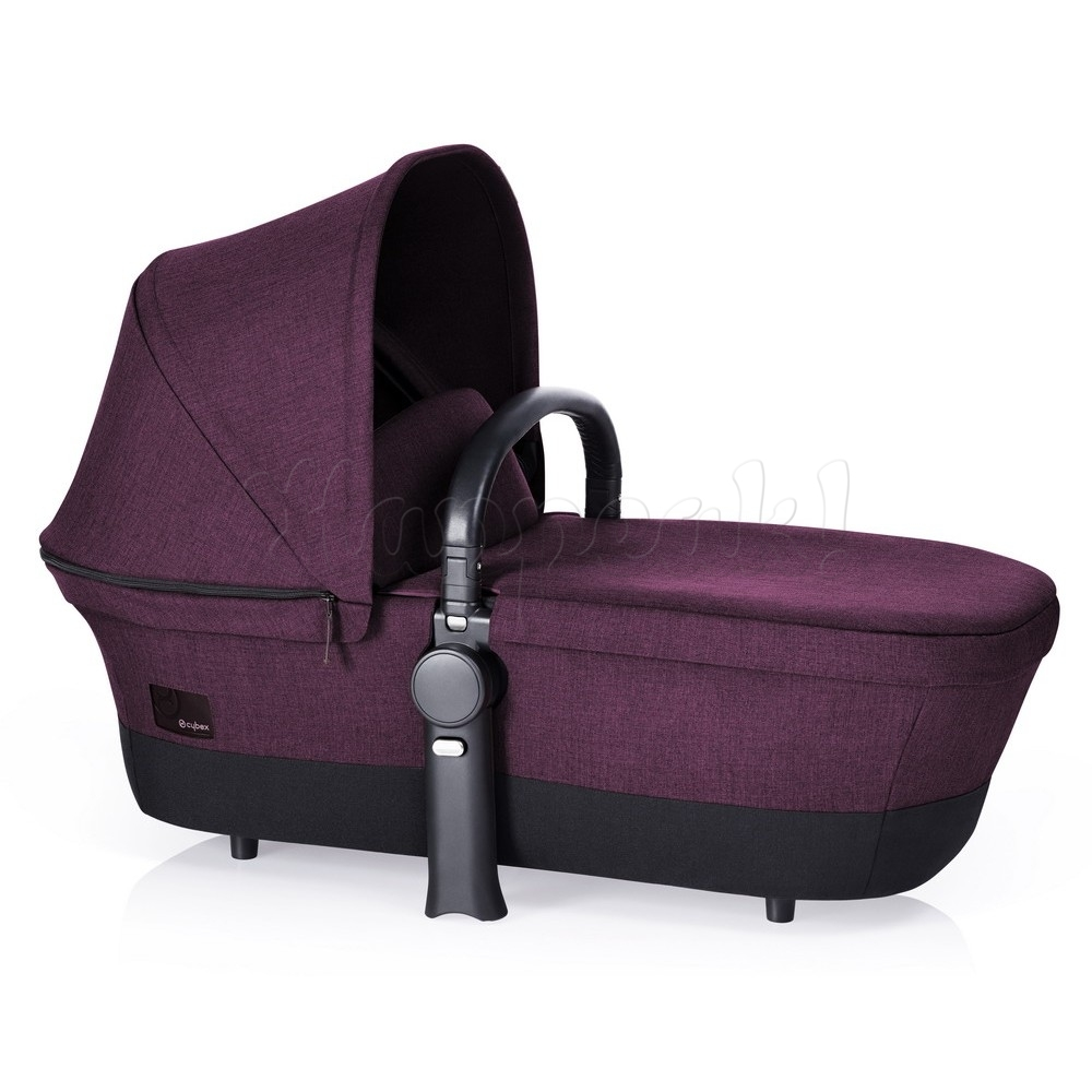 Коляска CYBEX PRIAM LUX GRAPE JUICE 3 В 1 на раме TREKKING MATT BLACK + ATON Q PLUS