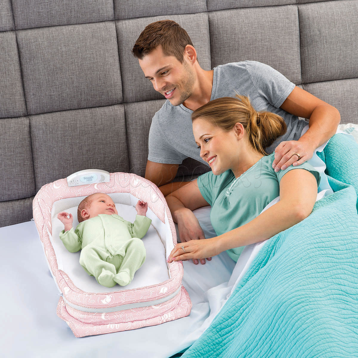 Мобильная кроватка BABY DELIGHT SNUGGLE NEST SURROUND XL PINK BABY LOVE