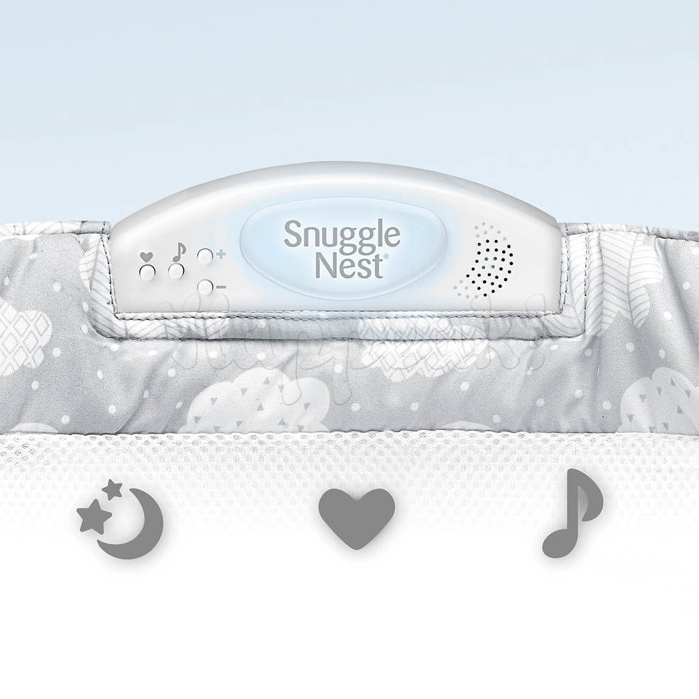 Мобильная кроватка BABY DELIGHT SNUGGLE NEST SURROUND XL SILVER CLOUDS