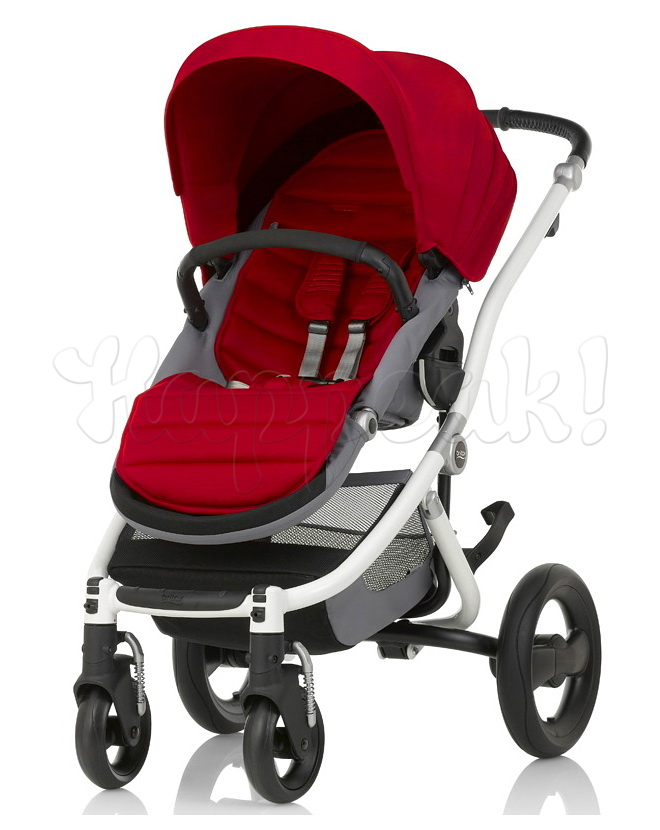 Коляска прогулочная BRITAX AFFINITY 2 WHITE FLAME RED