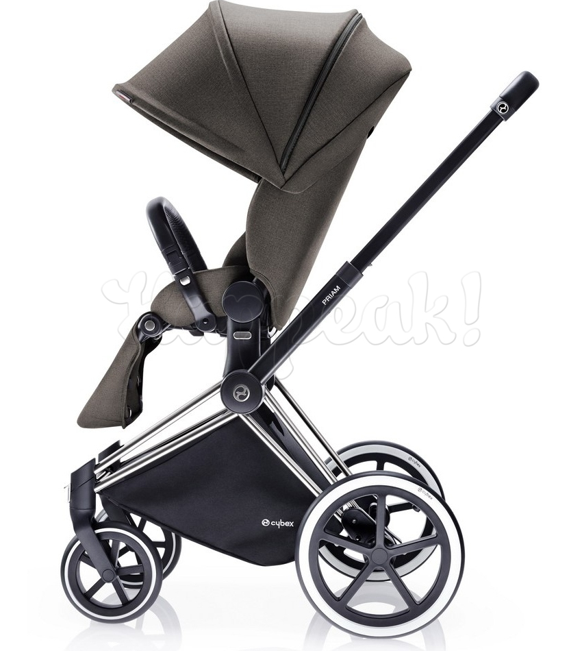 Коляска CYBEX PRIAM LUX DESERT KHAKI 3 В 1 на раме TREKKING MATT BLACK + CLOUD Q PLUS