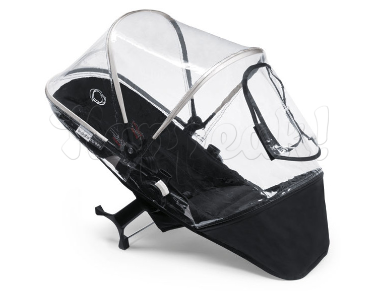 Коляска BUGABOO DONKEY DUO BLACK WHITE на шасси SILVER