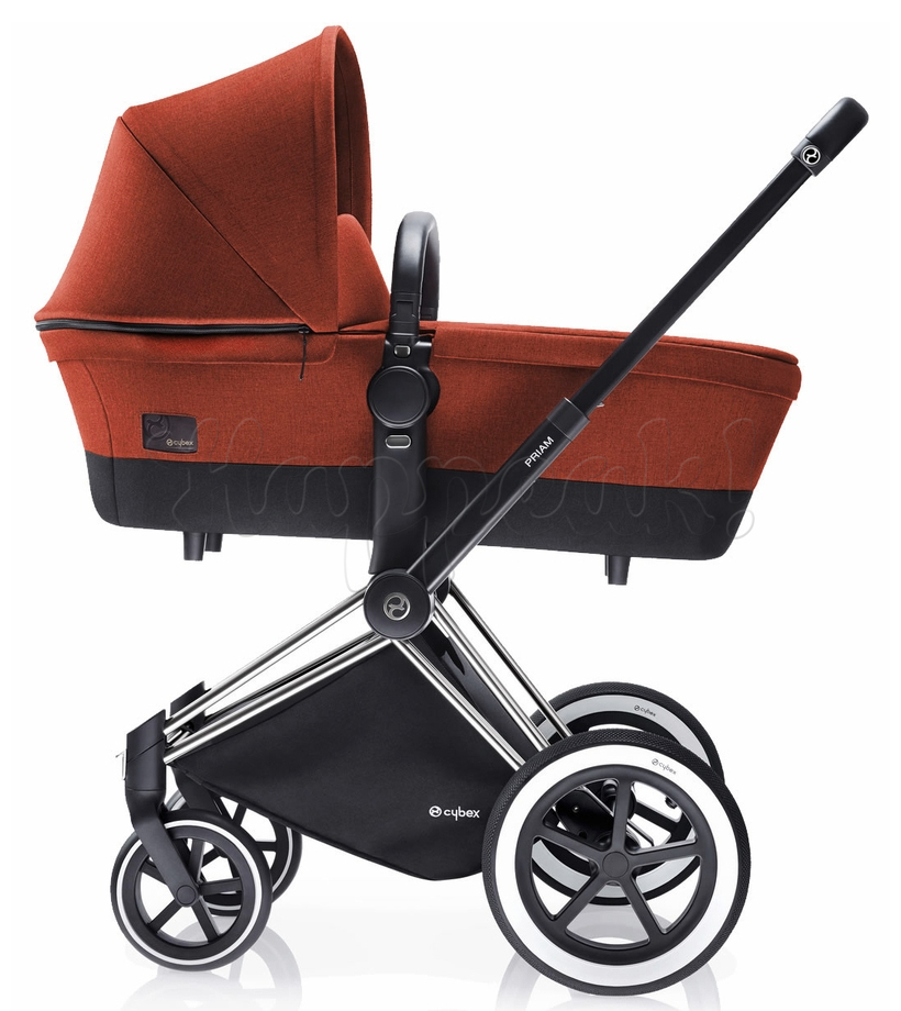 Коляска CYBEX PRIAM LUX AUTUMN GOLD 3 В 1 на раме TREKKING MATT BLACK + CLOUD Q PLUS
