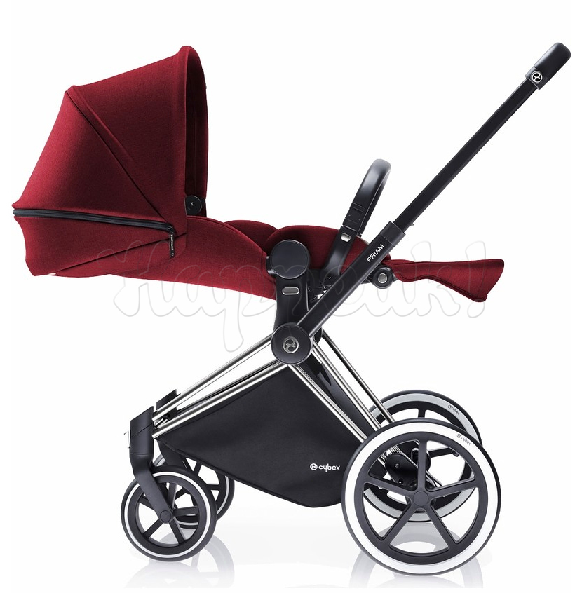 Коляска CYBEX PRIAM LUX HOT & SPICY 3 В 1 на раме ALL TERRAIN MATT BLACK+CLOUD Q PLUS