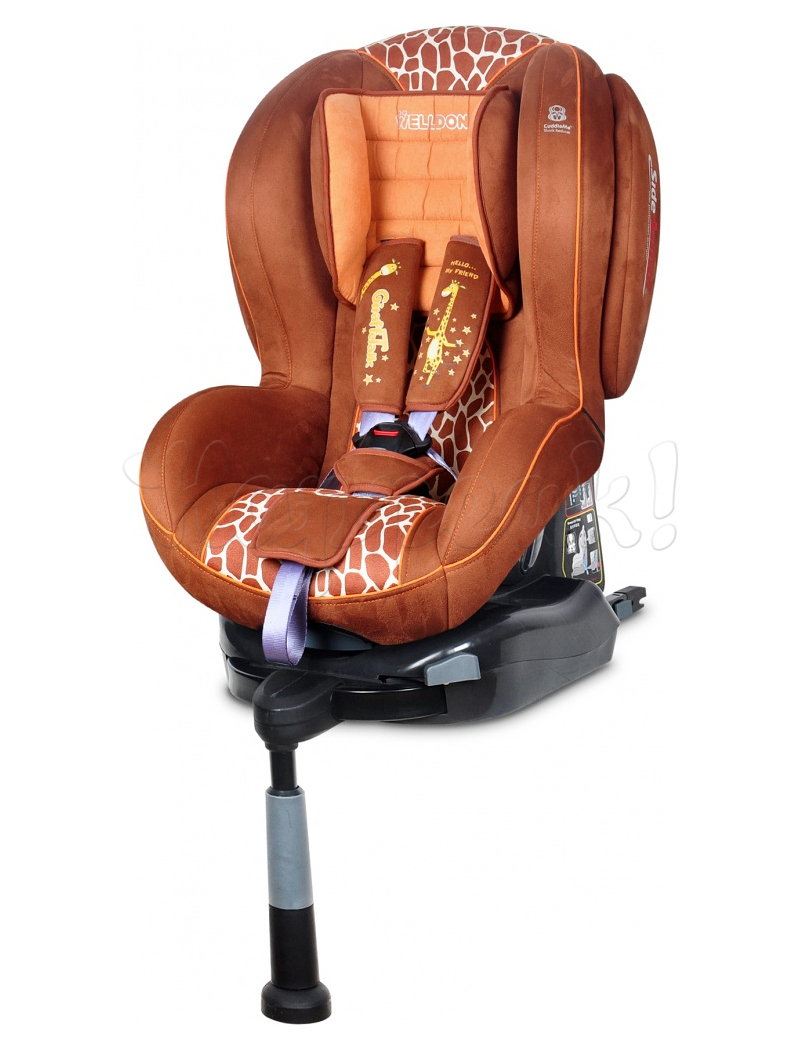 Автокресло WELLDON ROYAL BABY SIDE ARMOR&CUDDLE ME ISOFIX GIRAFFE TALK