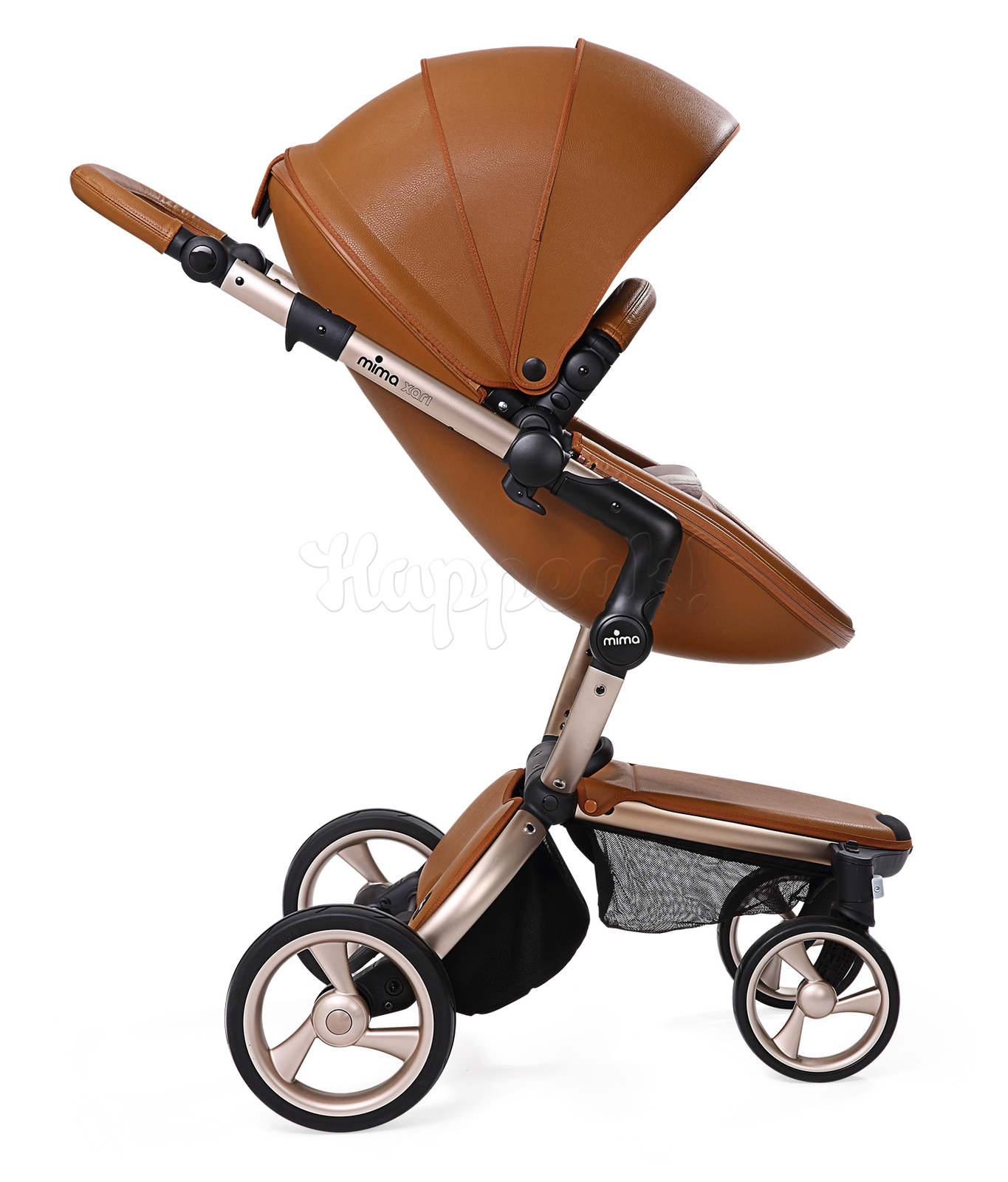 Коляска MIMA XARI FLAIR 2G CAMEL - ASH BROWN 2 В 1 на шасси GOLD