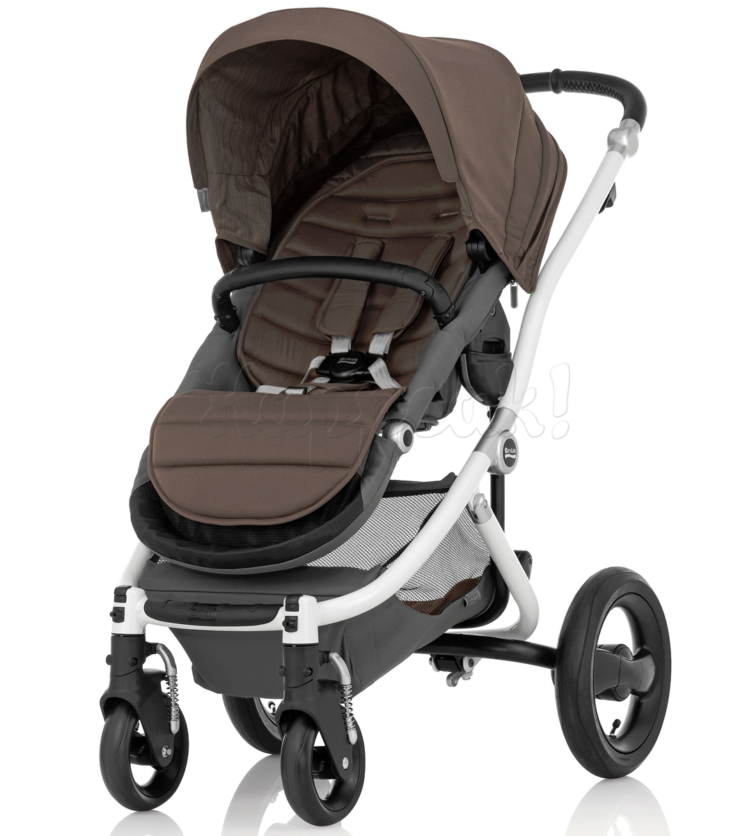Коляска BRITAX AFFINITY WHITE FOSSIL BROWN