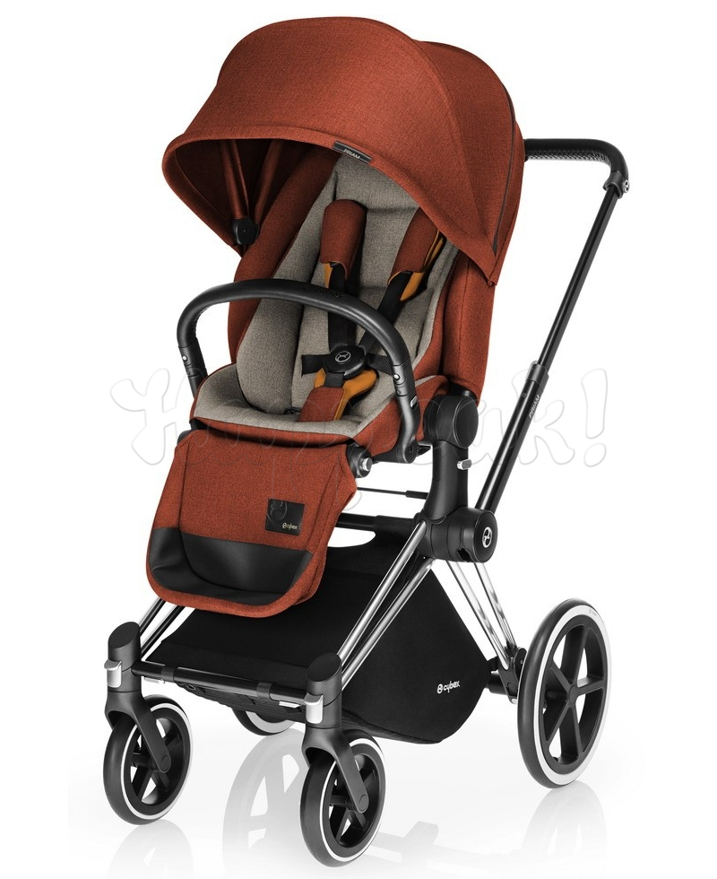 Коляска CYBEX PRIAM LUX AUTUMN GOLD 2 В 1 на раме TREKKING