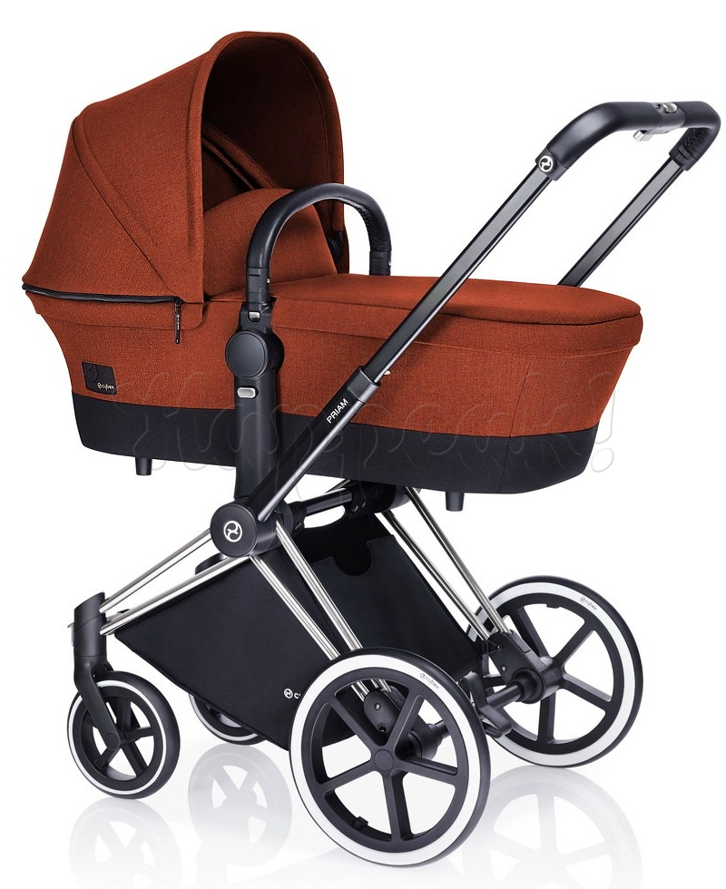 Коляска CYBEX PRIAM LUX AUTUMN GOLD 3 В 1 на раме ALL TERRAIN MATT BLACK + ATON Q PLUS