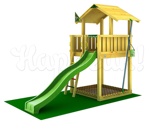 Игровой комплекс JUNGLE GYM CHALET +SWING+BALCONY+ROCK