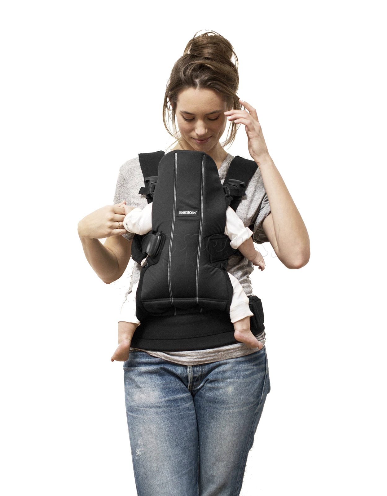 Рюкзак-кенгуру BABYBJORN WE SOFT COTTON BLACK