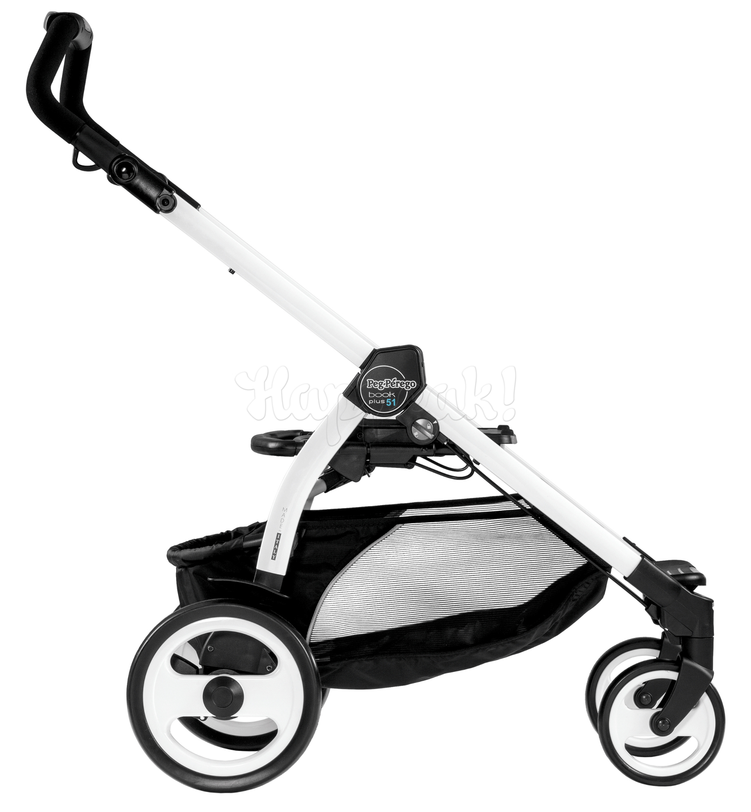 Коляска прогулочная PEG-PEREGO BOOK PLUS 51 WHITE POP-UP AQUAMARINE