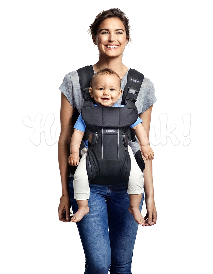 Рюкзак-кенгуру BABYBJORN ONE COTTON MIX GREY